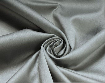 Fabric pure cotton satin grey heavy upholstery 30.000 Martindale
