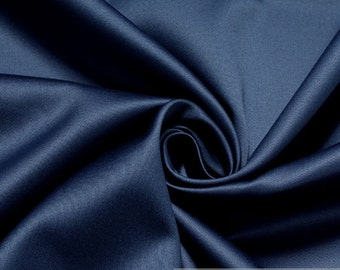 Fabric pure cotton satin royal blue heavy upholstery 30.000 Martindale