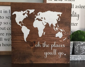 oh the places you'll go wood sign, HOME WOOD SIGN, handmade wood sign, nursery wood sign