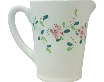Floral Ceramic Pitcher-Italy