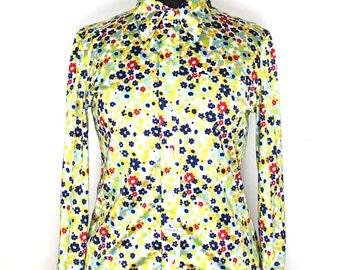 Printed blouse Liberty, 70s