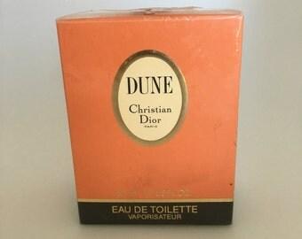 Celebrity Owned Sealed 1993 Vintage Christian Dior Dune EDT Eau De Toilette 50 ml 1.7 oz Perfume, Dior Dune Vintage Perfume, French Perfume