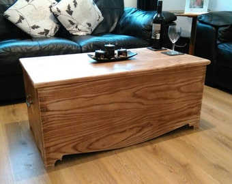 Distressed blanket chest/coffee table.