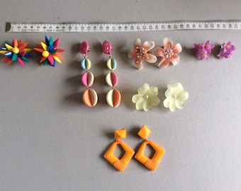 1980s  good  quality plastic earclips X six pairs