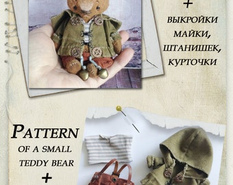 Pattern .small teddy bear pattern, plus pattern shirts, pants and blouses.