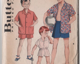 Boys Boxer shorts & shirt Butterick 5775 size 8