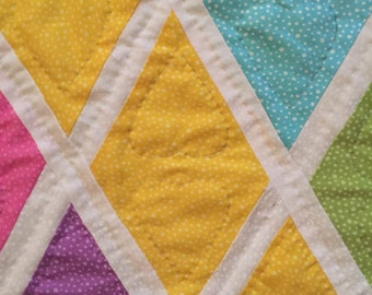 Hand Quilted Windowpain Quilt