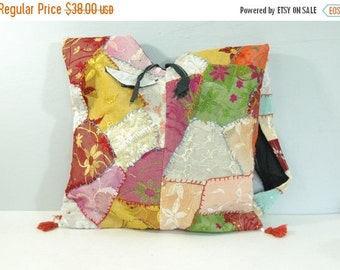 75% OFF February 5 - 7 80s Multicolored Glittery Flowered Bag • Vintage 1980s Patchwork Purse [Q]