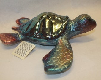 Honu (Sea Turtle) *** (A unique handmade in Hawaii pottery piece w/ FREE SHIPPING!)