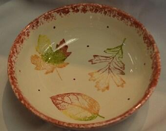 Autumn Leaf Serving Bowl