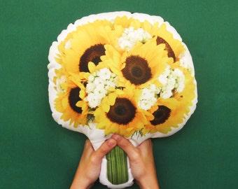 FunPrint Sunflower Bouquet Pillow Wedding Deco