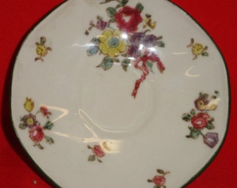 Old Leeds Spray by Royal Doulton Demitasse Saucer