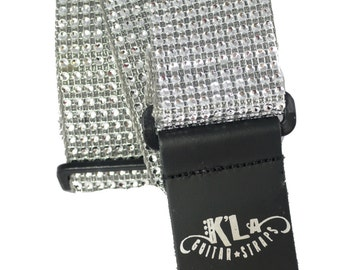 Bling Guitar Strap (Silver)