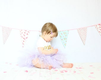 Baby girls 1st Birthday tutu birthday lilac purple personalised gold one set photo prop cake smash baby grow