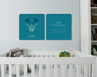 Birth canvas baby room