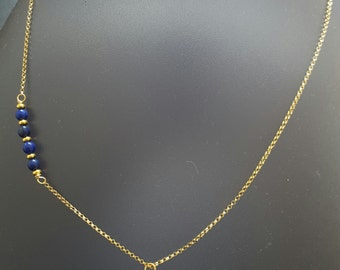 Necklace Lapis Lazuli and gold-plated