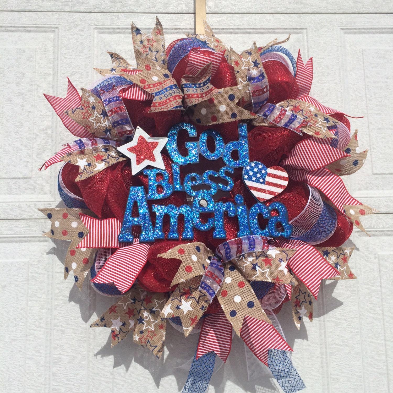 Sale July 4th Wreath Patriotic Wreath Memorial Day Wreath