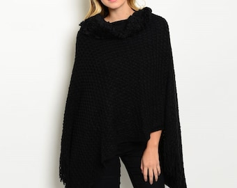 Soft Fringe Poncho | 3 Colors!