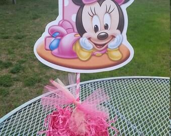 Baby Minnie Mouse Centerpiece 1st birthday 10 inch