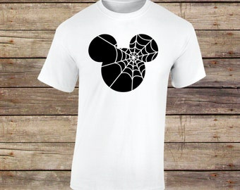 Mickey Spider Shirt, Spiderweb Shirt, Mickey Shirt, Mickey, Halloween, Halloween Shirt, Disney, Disney Halloween, Mickey Halloween,Spiderweb