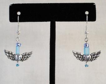 Winged Heart Earrings (s)