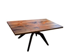 Modern coffee table, solid Walnut