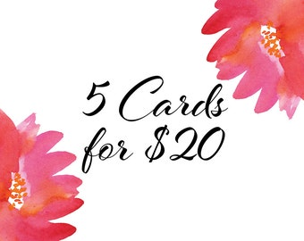 Buy Any 5 Cards Pack - A6 Greeting Cards