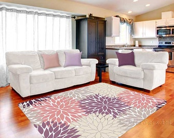 bedroom rug. Pink Purple Rug  Area Dahlia Beige Gray Baby Girl Bedroom rug Etsy