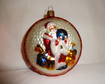 Christmas glass ornament