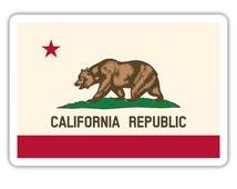 California State Flag Bear Vinyl Decal Sticker