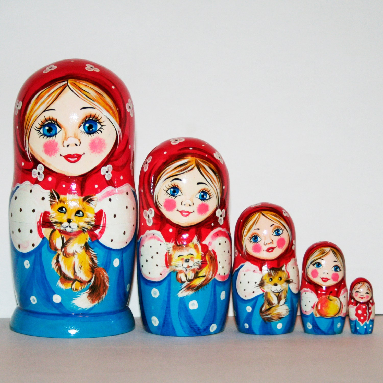 nesting doll with cats nesting dolls russian matryoshka