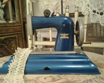 Vintage Toy Sewing Machine Casige Germany British Zone 1940s