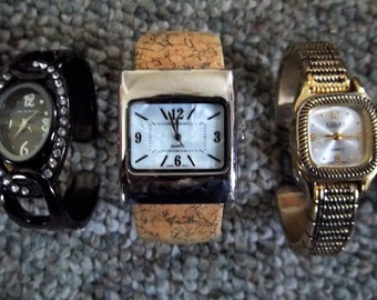 Vintage timex electric watches and bangle watches