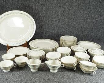 "Haviland 49 Piece Dinnerware Set ""Pemberton"" Pattern"