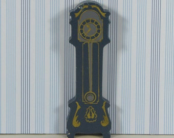 Doll house vintage grandfather clock 1980s furniture wooden