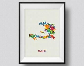 Haiti Map Watercolor Print, Haiti Watercolor Map, Haiti Map Art Print, Haiti Watercolor Map Poster, Haiti Watercolor Art Print Poster