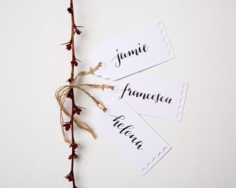 Calligraphy Place Cards - Hand Lettered Bespoke Wedding or Party Name Cards