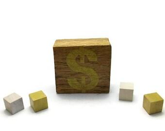 Big sale, Block of wood decoration, decoration  dollar sign gold,  table decoration , decoration for table and desk