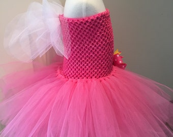 Holly inspired Tutu Dress with removable wings, Fairy Tutu Dress, Pink Fairy Tutu,