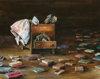 Lost In Literature Limited Edition Giclee' print on canvas