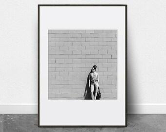 Black and White Prints, Black and White Photography, Black and White Art Print, Minimalist, Photography, Printable Art, Woman, Chic Decor