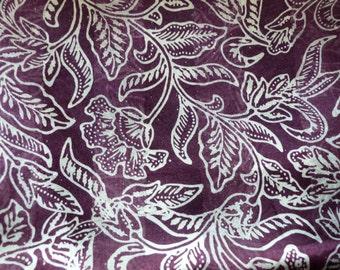 Dark purple silk ref. wide scarf L02
