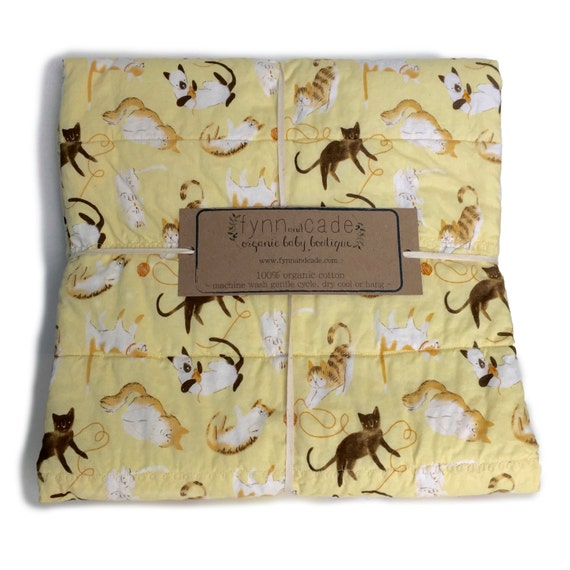 Baby Gift Organic : Organic baby gift blanket kittens