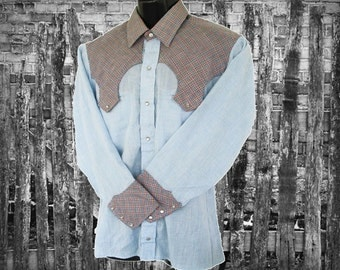 Stage West by Prior, Vintage Western Men's Shirt, Size 15.5