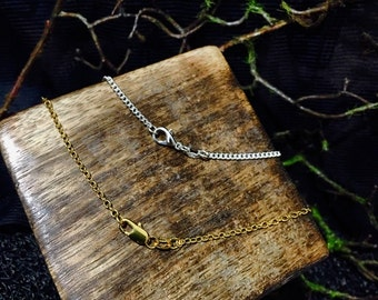 Silver or Gold Plated Chain ~ Add on