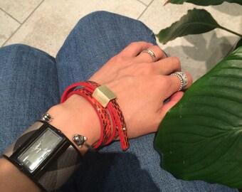 Python Leather Bracelet For Women