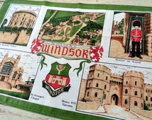 Windsor Castle Towel Tea Towel Kitchen Towel New Old Stock Souvenir Vintage Kitchen dish cloth retro towel retro Kitchen