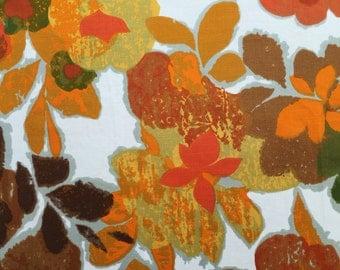 Pair of Vintage Bernard Wardle 'Ascona' Curtains / Fabric 120cm x 120cm