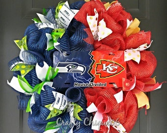 House Divided Wreath; NFL Teams; Any Team Available