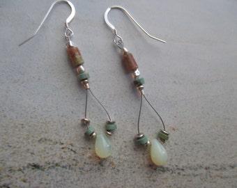Turquoise-Jasper-Sterling Silver-Glass